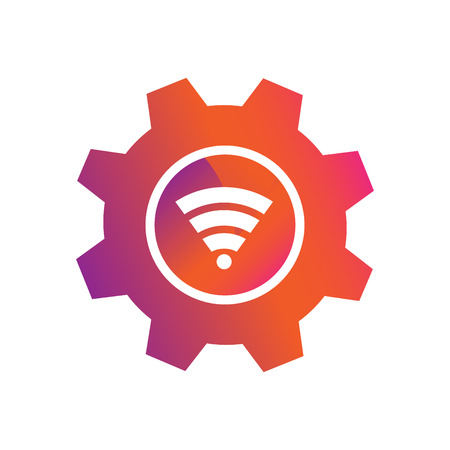 setting wifi connection button vector icon