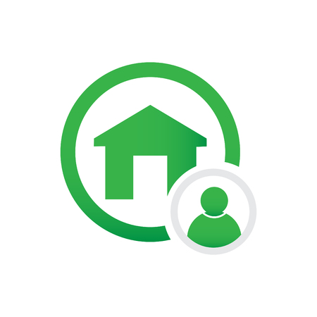 home and user vector icon