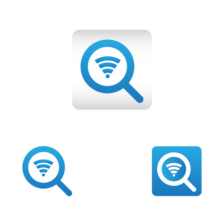 search icon with wireless internet symbol. search web icon vector icon in various style