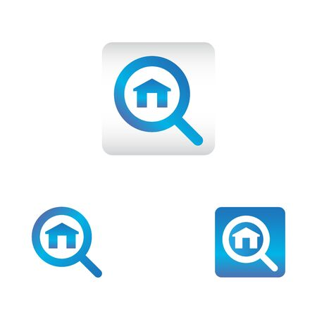 search icon with home symbol. search web icon vector icon in various style