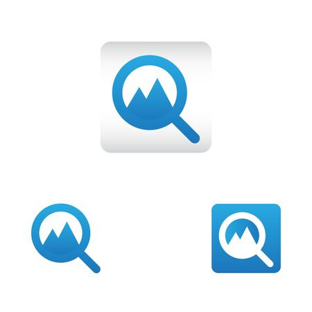 search icon with picture photo symbol. search web icon vector icon in various style