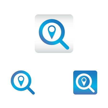 search icon with location symbol. search web icon vector icon in various style