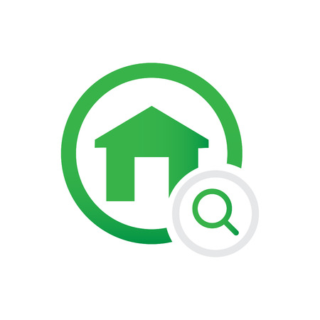 home and search vector icon