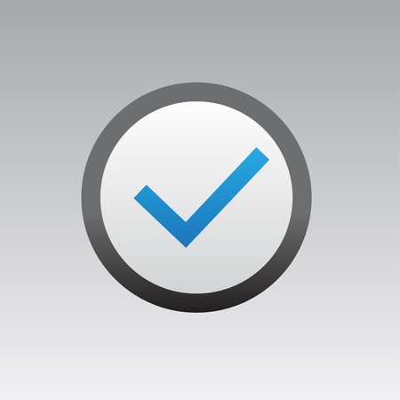 Correct checkmark icon button vector