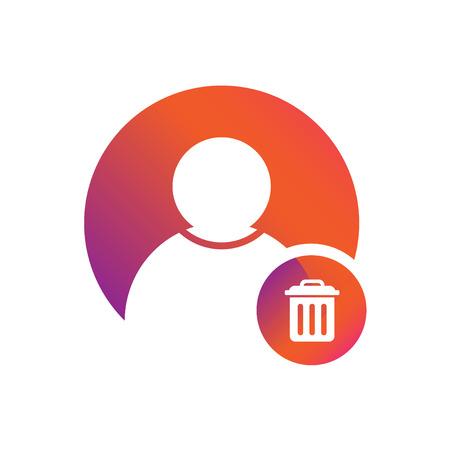 People / user icon with delete symbol vector icon