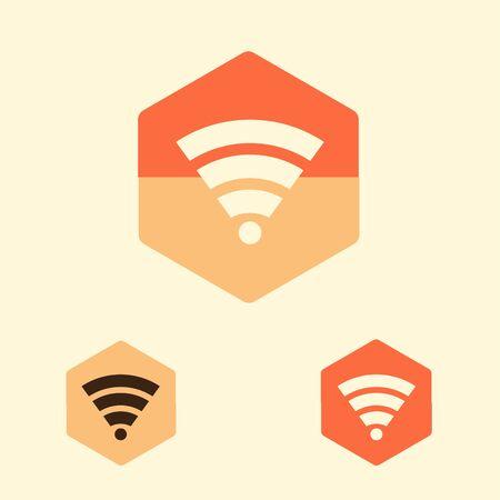 wifi icon in flat design style. vector icon button
