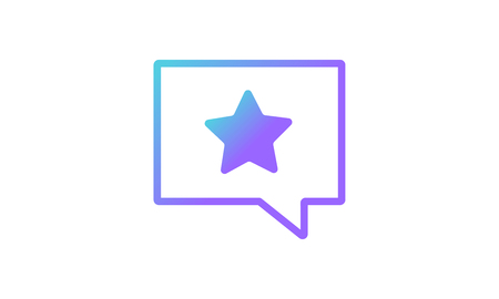 message icon concept, favorite message icon concept. modern gradient style vector icon  イラスト・ベクター素材