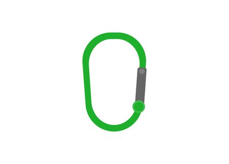 carabiner flat design style vector icon
