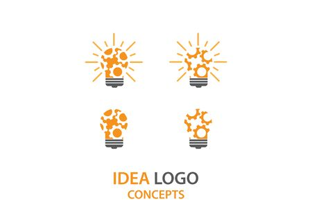 idea gear logo template design vector concept. perfect for creative industry company logo Zdjęcie Seryjne - 142136803