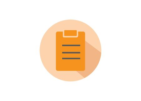 flat design style clipboard vector ilustration, perfect for icon and design element.