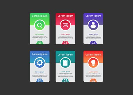 Business Infographic Template  Vector for presentation, booklet, website etc.