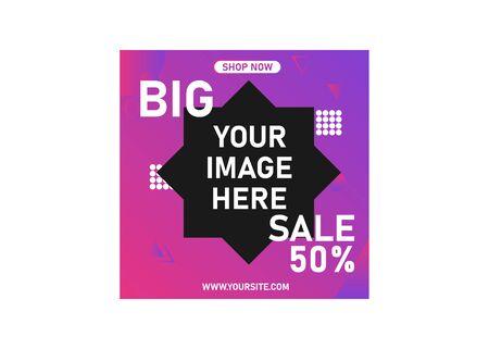 Modern digital marketing social media post banner template