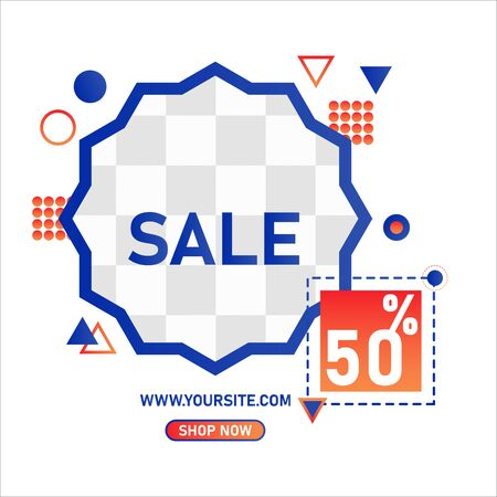 sale banner layout design template. ready use and editable vector banner design.