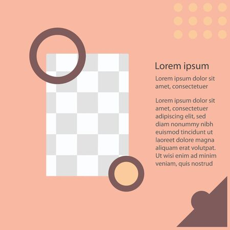 trendy social media post template. vector banner layout design. Ilustracja