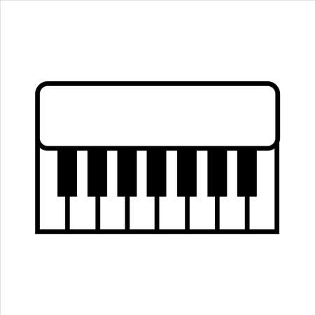 piano icon vector. outline style icon