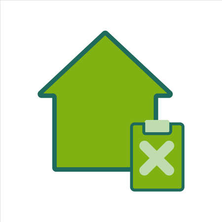 home icon. home icon with task . home icon concept for mobile and web design, design element. home icon illustration. 向量圖像