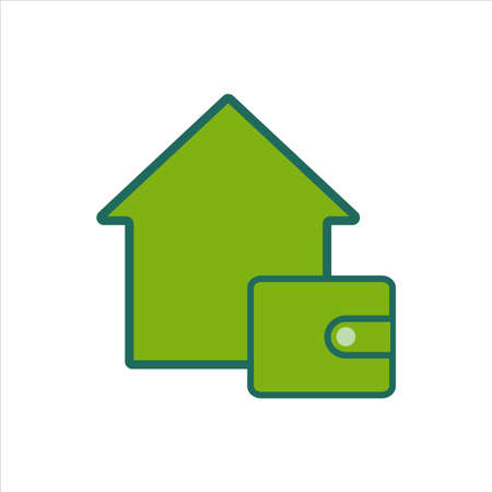 home icon. home icon with wallet . home icon concept for mobile and web design, design element. home icon illustration.