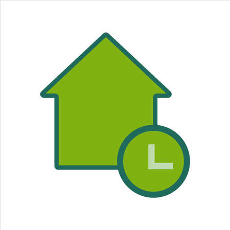 home icon. home icon with . home icon concept for mobile and web design, design element. home icon illustration. Çizim