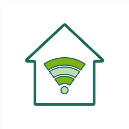 home icon. home icon with wireless connection. home icon concept for mobile and web design, design element. home icon illustration.