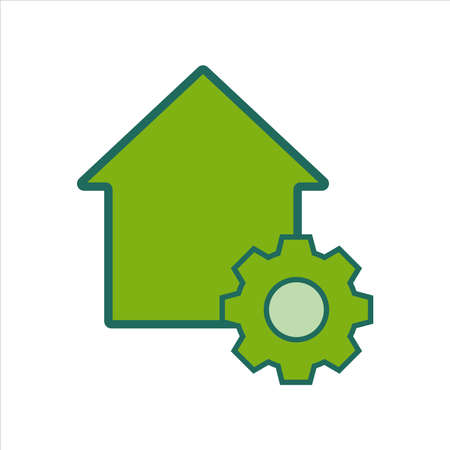 home icon. home icon with . home icon concept for mobile and web design, design element. home icon illustration. 向量圖像