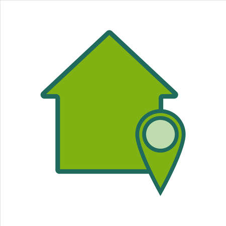 home icon. home icon with location . home icon concept for mobile and web design, design element. home icon illustration.