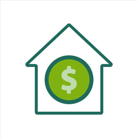 home icon. home icon with money . home icon concept for mobile and web design, design element. home icon illustration.