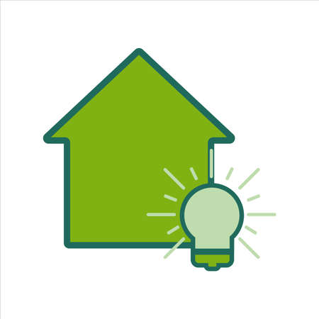 home icon. home icon with idea. home icon concept for mobile and web design, design element. home icon illustration. Ilustração