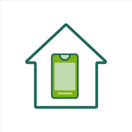 home icon. home icon with smartphone . home icon concept for mobile and web design, design element. home icon illustration.