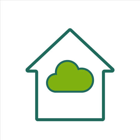 home icon. home icon with cloud . home icon concept for mobile and web design, design element. home icon illustration.