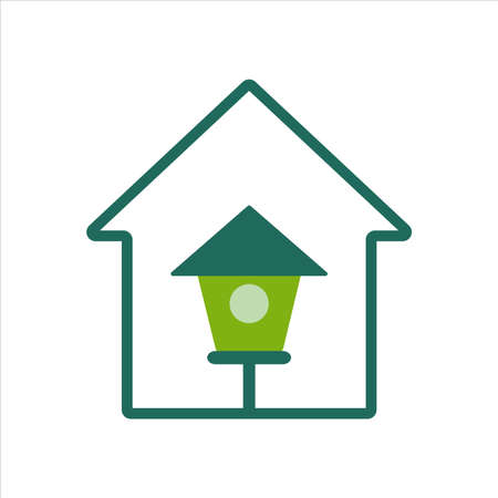 home icon. home icon with bird house. home icon concept for mobile and web design, design element. home icon illustration. Illustration