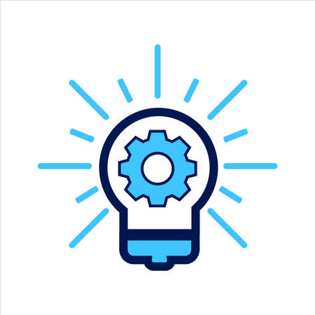 setting icon. setting with idea symbol. Vector illustration, vector icon concept.