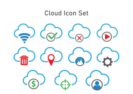 cloud icon vector. cloud computing icon vector concept 向量圖像