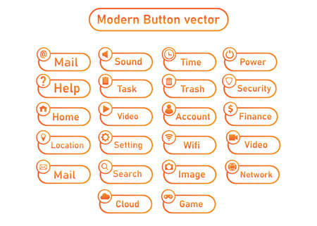 modern business button. for infographic work flow layout, banner, graphic or website layout vector