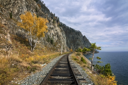Autumn on the Circum-Baikal railway photo