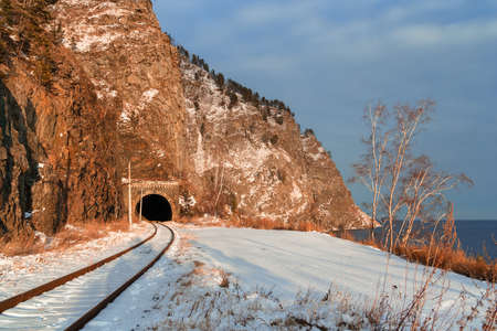 Circum-Baikal railway tunnel photo
