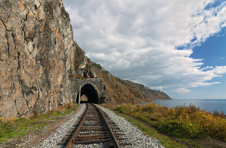 Autumn tunnel on the Circum-Baikal railway photo