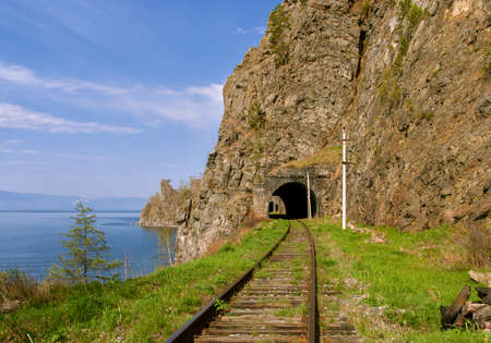 Circum-Baikal road in the south of Lake Baikal in June photo