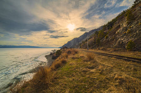 Spring on the Circum-Baikal Road to the south of Lake Baikal photo