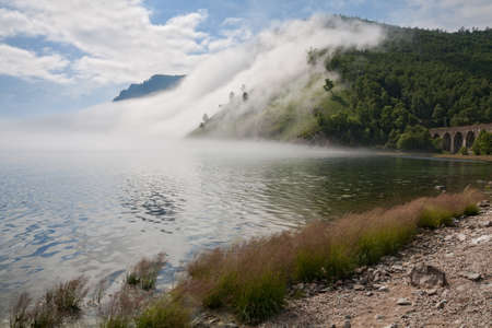 Fog on the Circum-Baikal in the Gulf Steep Guba photo