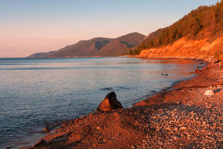 Early morning on the southern Baikal Imagens