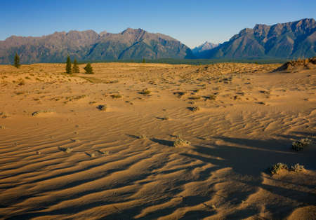quietude: Sands e montanhas no leste da Sib Imagens