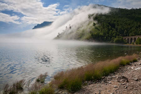 Fog on the Baikal Railway  photo