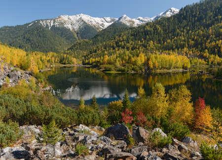 goodly: The beginning of autumn in mountains range Khamar-Daban Eastern Siberia