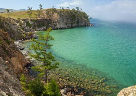 Olkhon Island on Lake Baikal and the strait Small Sea in the Irkutsk region of Eastern Siberia