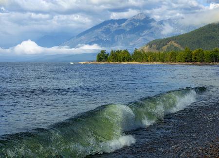 Morning at Cape Kotelnikovsky in lake Baikal