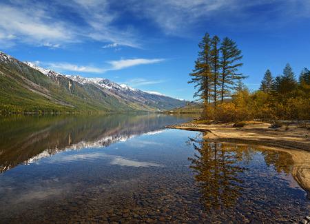 The lake Leprindo in the mountains in Transbaikalia Siberia.