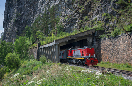 Summer on Circum-Baikal Railway, Eastern Siberia, Irkutsk region