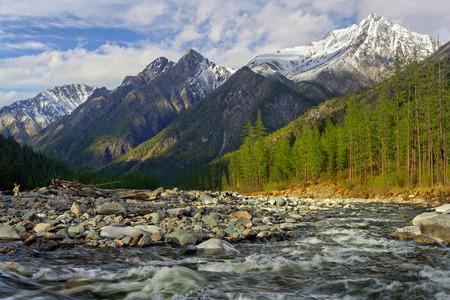 Shumak River in the Tunkinskie loach in mountains Eastern Sayan Eastern Siberia