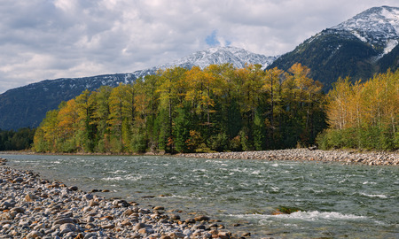 River Snegnaya (Snowy) in autumn.  Ridge Khamar-Daban, Pribaikalie, Eastern Siberia