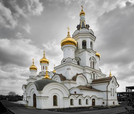Prince Vladimirs Church in the city of Irkutsk Imagens